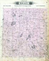 Krain Township, Gates, Two River Lake, Hay Creek, Stearns County 1896 published by C.M. Foote & Co